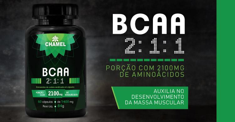 BCAA 2:1:1 - aminoácidos de cadeia ramificada para o desenvolvimento muscular